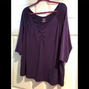 Lane Bryant women's purple blouse 18/20